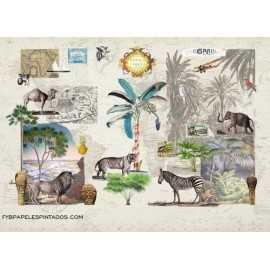Mural ROOM SEVEN TRAVEL MEMORIES 2200102