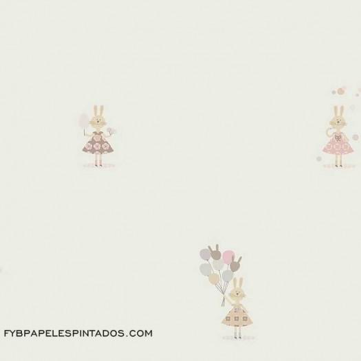 Papel Pintado FETE FORAINE BEIGE/ROSA