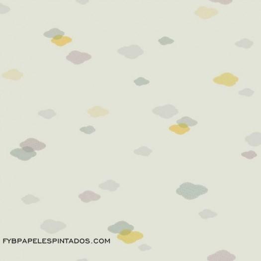 Papel Pintado NUBE AZUL/VERDE