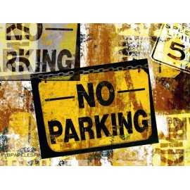 Fotomural NO PARKING FT-0091