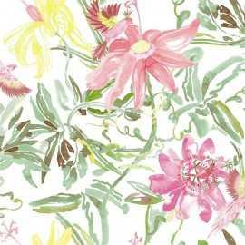 Papel Pintado FLOWERS RED 034