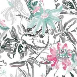 Papel Pintado FLOWERS SILVER 035