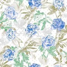 Papel Pintado ROSES BLUE 011